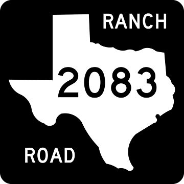 Texas Ranch-to-Market Road RM 2083 | United States Highway Shield Sign by djakri