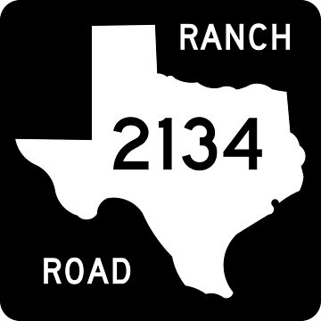 Texas Ranch-to-Market Road RM 2134 | United States Highway Shield Sign by djakri