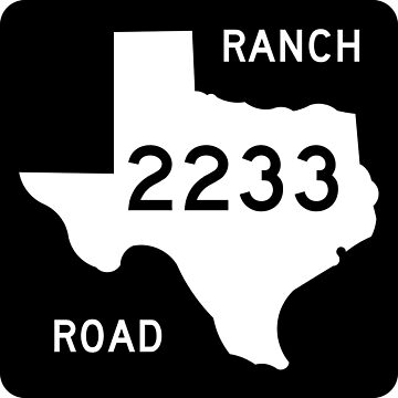 Texas Ranch-to-Market Road RM 2233 | United States Highway Shield Sign by djakri