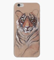 UNFINISHED BUSINESS - Original Tiger Drawing - Mixed Media (acrylic paint & pencil) iPhone Case