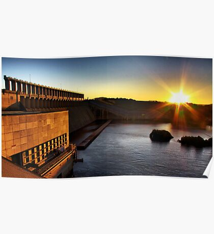 hume weir wall sunset Poster