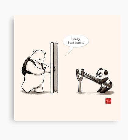Panda Attack Canvas Print