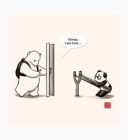 Panda Attack Photographic Print