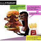 Clint Eatswould Birth of a Superhero Cheeseburger Man by dave-ulmrolls