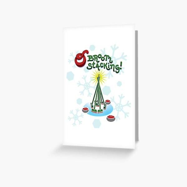 O Broomstacking! Christmas Curling Greeting Card