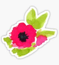 Pegatina Patrón de flores rojas