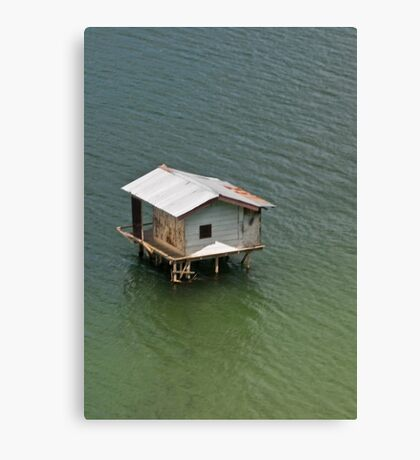 Fishing shack, Takengon, Aceh, Indonesia Canvas Print