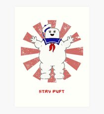 Stay Puft Retro Japanese Ghostbusters Art Print