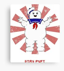 Stay Puft Retro Japanese Ghostbusters Canvas Print