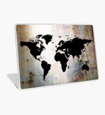 World Map Rusted Metal  Laptop Skin
