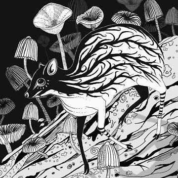 Mouse Deer Inked Full Piece by LukeMartinsArt