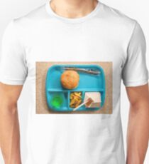 School Lunch Tray Cheeseburger Unisex T-Shirt