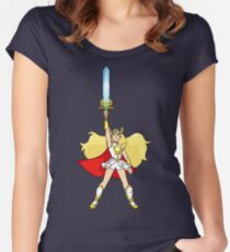 She-Ra: Princess of Power Women's Fitted Scoop T-Shirt