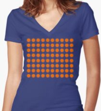 Pattern of suns and dandelions Women's Fitted V-Neck T-Shirt
