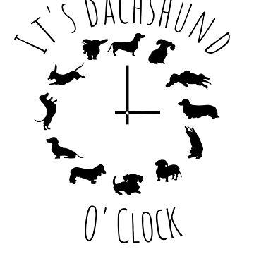 It's dachshund o'clock by MandWthings