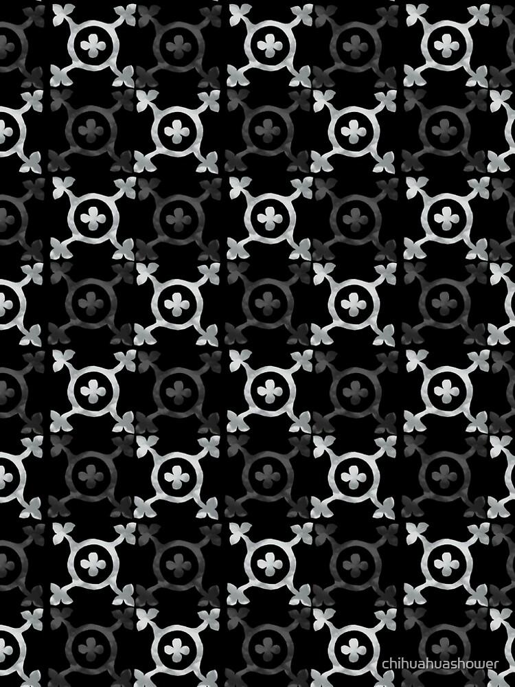 monochrome geometric pattern by chihuahuashower