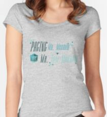 Paging Mr. Morrow... Women's Fitted Scoop T-Shirt