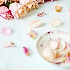 Shabby Chic Pink Roses by Tamsyn Morgans
