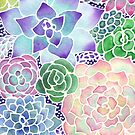 Masked Flora Collection Succulents by christinemay