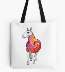 Psychedelic sheep: Blue Faced Leicester, red/violet Tote Bag