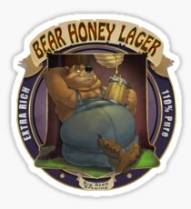 Pegatina Bear Honey Lager