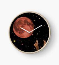 Coral meerkat moon Clock