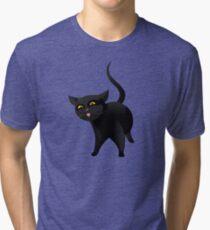Black cat Tri-blend T-Shirt