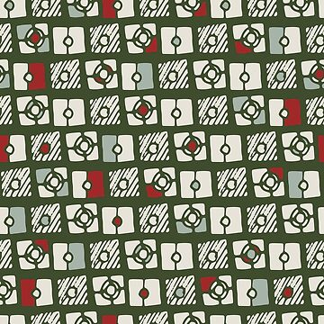 Modern Holiday Abstract Pattern by JakeRhodes
