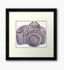 Pastel Camera Framed Print