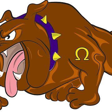 Bulldogge Cartoon angry by ModaMario1021