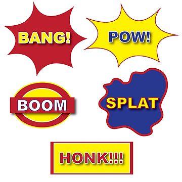 Bang Pow Boom Splat Honk Comic by ModaMario1021