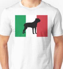 cane corso silhouette on flag Unisex T-Shirt