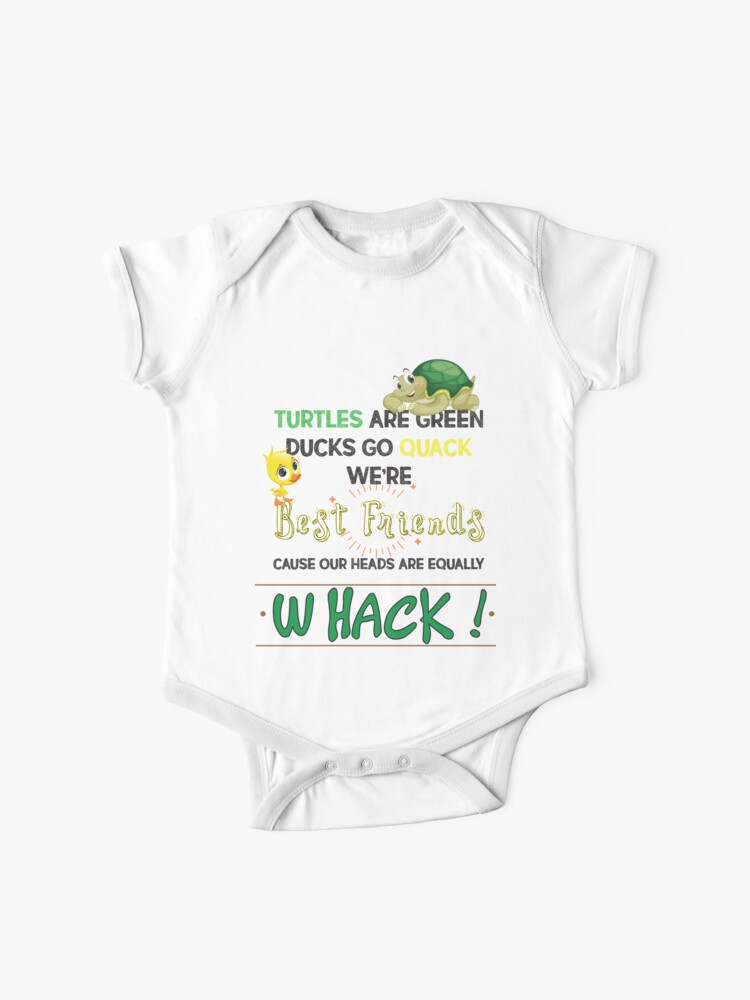 Cute Duck Turtle Friends Quack And Whack Bestfriend Friendship Tees | Baby  One-Piece