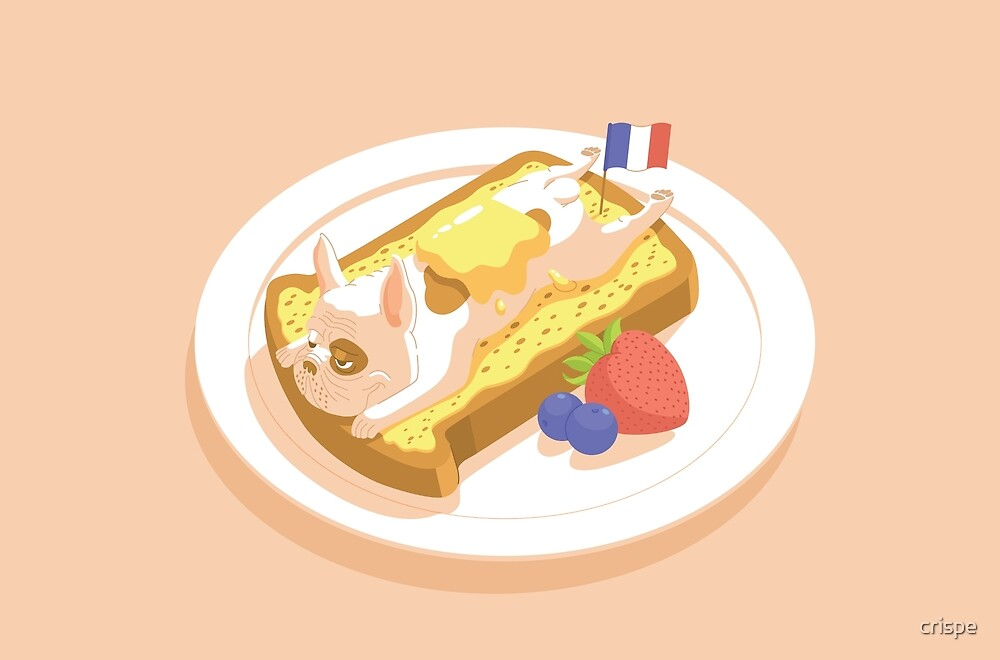 French Bulldog Toast by crispe