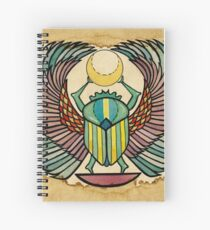 Winged Scarab Spiral Notebook