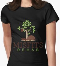 Misfits Rehab Support Women's Fitted T-Shirt
