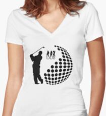 the golfer Women's Fitted V-Neck T-Shirt