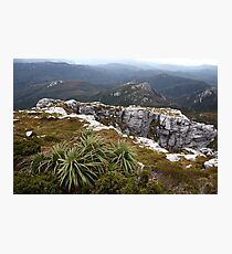 View from Frenchmans Cap, Franklin-Gordon Wild Rivers National Park, Tasmania Photographic Print