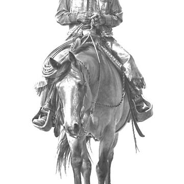 Western Cowboy Riding Horse  by TheKitch