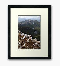 Frenchmans Cap Summit View, Franklin-Gordon Wild Rivers National Park, Tasmania, Australia Framed Print
