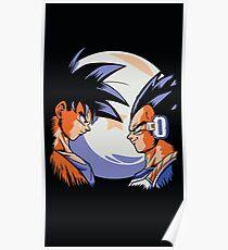 Goku and vegeta - goku & vegeta lunar  Poster