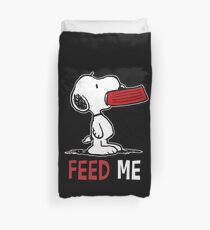 Snoopy Peanuts Feed Me  Duvet Cover