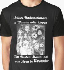Tim Burton November Love Art on T-Shirts and More Graphic T-Shirt