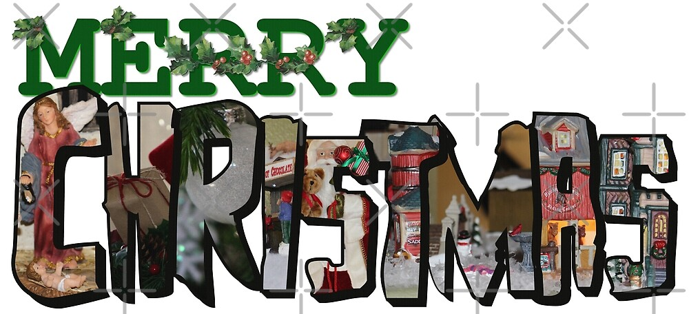 Big Letter Merry Christmas by Colleen Cornelius