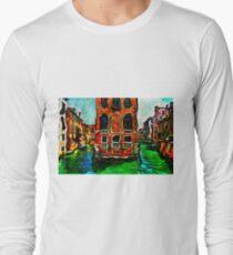 Venice Intersection Fine Art Print Long Sleeve T-Shirt