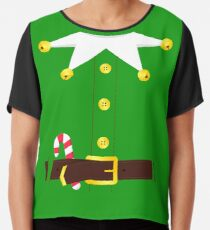 Green Elf Costume Chiffon Top