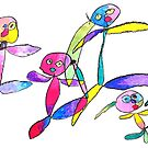 Friendship 3 year old drawing Kid art children painting by See Foon