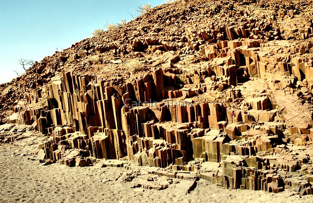 """""""The Organ Pipes"""" Canyon, Namibia by Carole-Anne"""