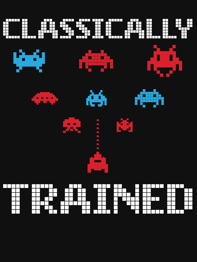 'Classically Trained' Funny 80's Video Game Icon  by leyogi