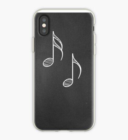 Musiknoten auf Tafel 4 iPhone-Hülle & Cover